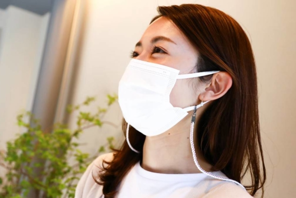 """【Ryukobo】For a stylish, comfortable mask-wearing lifestyle: a """"braided mask cord"""" using traditional braided cords."""