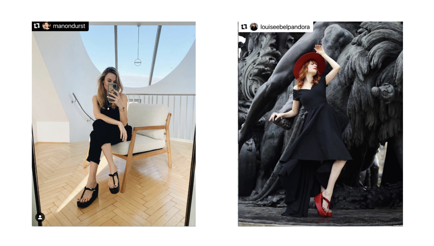 """Conveying the appeal of stylish """"ZORI"""" sandals through influencers"""